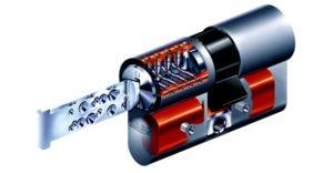 Voorbeeld van een veiligheidscilinder